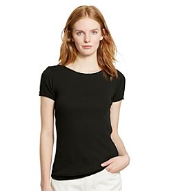 Lauren Ralph Lauren® Ribbed Cotton Tee