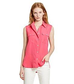 Lauren Ralph Lauren® Crepe Sleeveless Workshirt