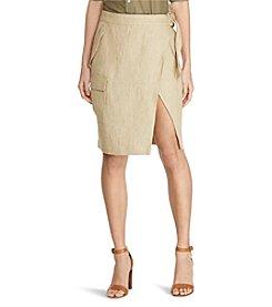 Lauren Ralph Lauren® Linen Cargo Wrap Skirt