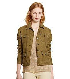 Lauren Ralph Lauren® Herringbone Linen Jacket