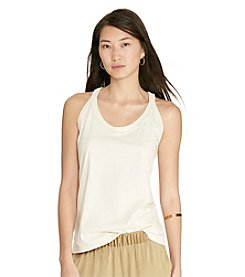 Lauren Jeans Co.® Macrame Cotton Tank