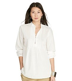 Lauren Jeans Co.® Pintucked Cotton Tunic