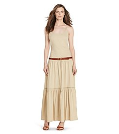 Lauren Jeans Co.® Tiered Cotton Maxi Dress