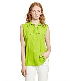 Lauren Jeans Co.® Crepe Workshirt