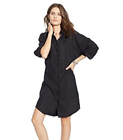 Lauren Jeans Co.® Linen Dolman-Sleeve Shirtdress