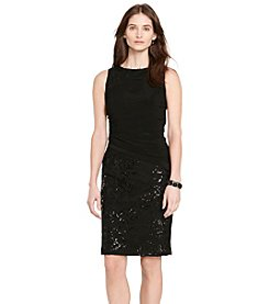 Lauren Ralph Lauren® Lace-Jersey Sheath Dress