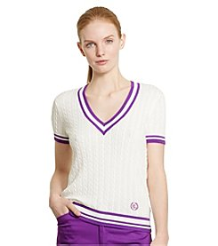 Lauren Active® Cable-Knit Cricket Sweater