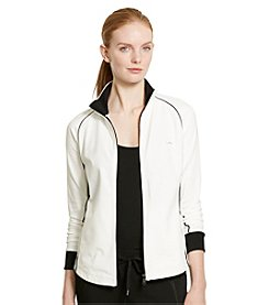 Lauren Active® Stretch Cotton Mockneck Jacket
