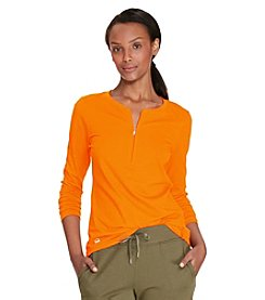 Lauren Active® Stretch Cotton Half-Zip Tee