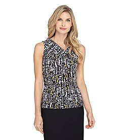 Tahari ASL® Drape Neck Top