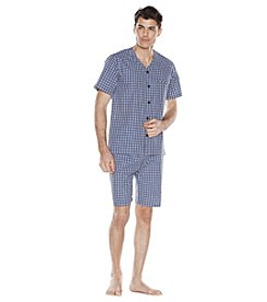 Majestic Men's Big & Tall Cotton Poplin Shorty Pajamas
