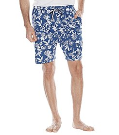 Majestic Men's Big & Tall Hawaiian Print Cotton Lounge Shorts