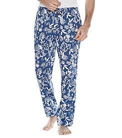 Majestic Men's Big & Tall Hawaiian Print Cotton Lounge Pants