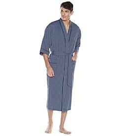Majestic Men's Big & Tall Temperate Texture Seersucker Kimono Robe