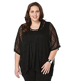 Rafaella® Plus Size Cropped Open Cardigan