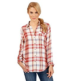 Lucky Brand® Bungalo Plaid Top