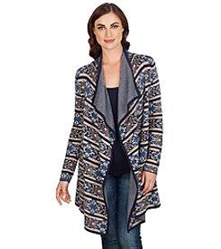 Lucky Brand® Scarf Pattern Drape Cardigan