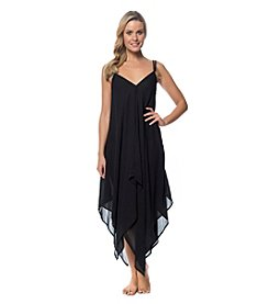 Jessica Simpson Crochet Racer Back Chiffon Cover-Up