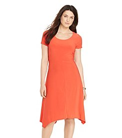 Lauren Ralph Lauren® Plus Size Jersey Handkerchief-Hem Dress