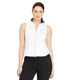 Lauren Active® Plus Size Full-Zip Mockneck Vest