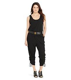 Lauren Ralph Lauren® Plus Size Drawstring-Cuff Jumpsuit