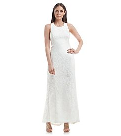 Calvin Klein Sleeveless Lace Gown