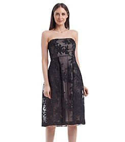 Calvin Klein Strapless Short Embossed Dress