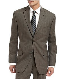 John Bartlett Statements Men's Brown Classic Fit Suit Separates Jacket