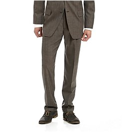 John Bartlett Statements Men's Brown Classic Fit Suit Separates Pants