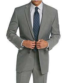 Calvin Klein Men's Grey Flat Front Suit Separates Jacket