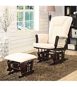 Acme Paola Glider Chair with Ottoman Set