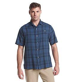 Tommy Bahama® Men's Short Sleeve Button Down Plaidtones Camp Shirt