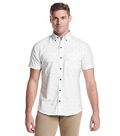 Izod® Men's Printed Short Sleeve Button Down Shirt