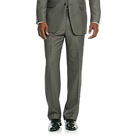Calvin Klein Men's Charcoal Neat Suit Separates Pants