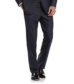 REACTION Kenneth Cole Men's Modern Blue Solid Slim-Fit Suit Separates Pants