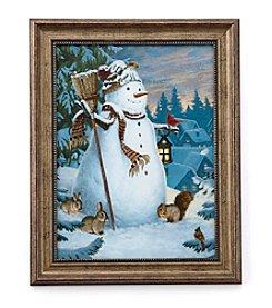 LivingQuarters Village Snowman
