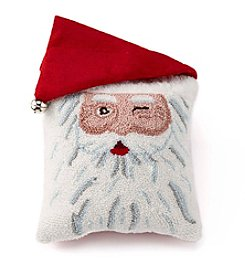 LivingQuarters Santa Face Pillow