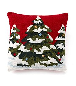 LivingQuarters Pine Tree Pillow