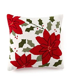 LivingQuarters Poinsettia Pillow