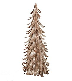 LivingQuarters Rustic Lodge Collection Medium Cone Petal Tree