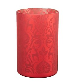 LivingQuarters Rubies and Gold Collection Small Tealight Cup