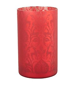 LivingQuarters Rubies and Gold Collection Medium Tealight Cup
