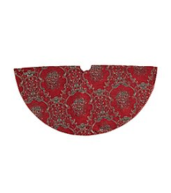 LivingQuarters Burgundy and Gold Tree Skirt