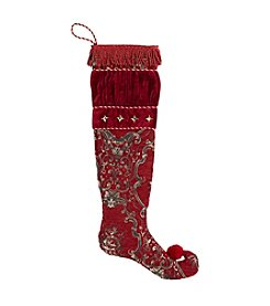 LivingQuarters Rubies and Gold Collection Stocking