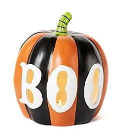 LivingQuarters Large Boo Pumpkin