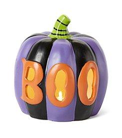 LivingQuarters Small Boo Pumpkin