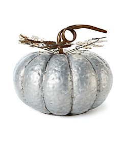LivingQuarters Large Galvanized Pumpkin