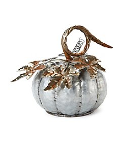 LivingQuarters Small Galvanized Pumpkin
