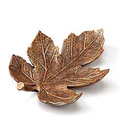 LivingQuarters Metallic  Leaf Plate