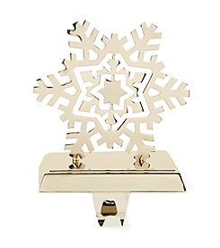 LivingQuarters Snowflake Stocking Holder